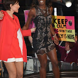 OIC - ENTSIMAGES.COM - Emma Willis and Adjoa Mensah at the Big Brother 2015 - second eviction Elstree Studios Borehamwood London 22nd May 2015 Photo Mobis Photos/OIC 0203 174 1069