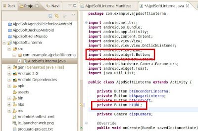Assign code onClick event of a button in Eclipse for Android applications