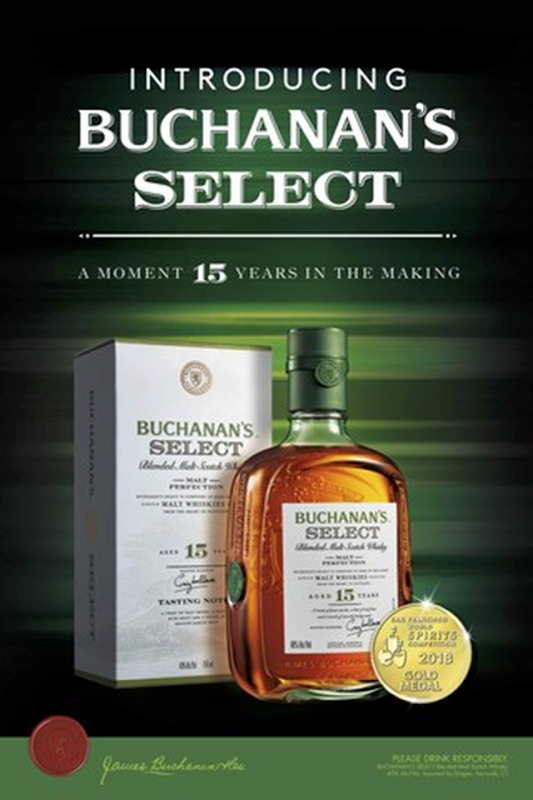 Introducing Buchanan's Select 15-Year-Old Blended Malt Scotch Whisky