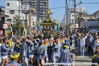 Photo: 【平成26年(2014) 本宮】 渡御開始。清祓いを受けるため亀ヶ池八幡宮を目指す。