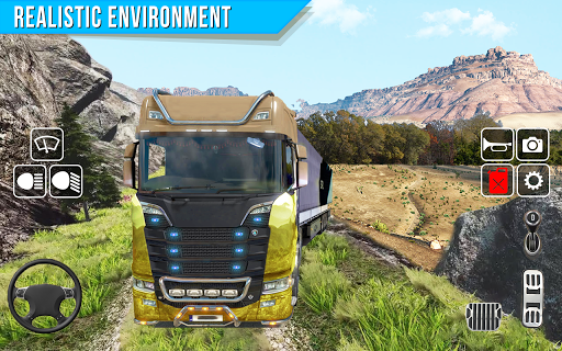 Offroad truck driver 4X4 cargo truck Drive 3D apkmr screenshots 2