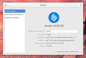 Configurar el sistema. Accesibilidad en Linux y otros. Detalles del equipo.