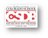 Colorado School for the Deaf and the Blind logo