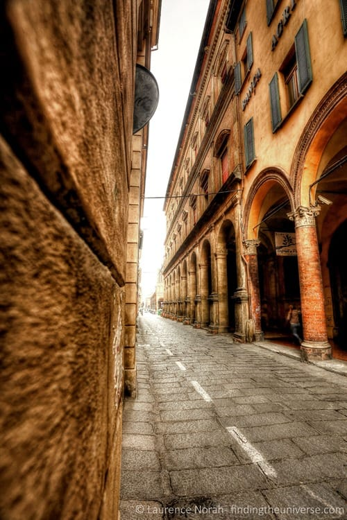 bologna street italy arches scaled