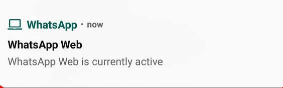 Notifikasi WhatsApp Web Aktif