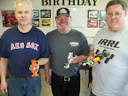 F1 Race - Winner are David Fiedler (1st place) center, Dave Geehring (2nd) pictured on the right, Mike Swiss, 3rd) on left.