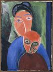 Pablo Picasso : Anya és gyermeke, 1907, olaj, vászon, 81 x 60 cm (Fotó: Musée national Picasso-Párizs Pablo Picasso hagyaték, 1979. MP19 © RMN-Grand Palais (Musée national Picasso-Paris)/René-Gabriel Ojéda ©2016 – Succession Pablo Picasso – HUNGART)