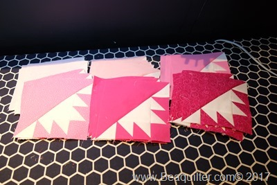 pink girl QUBE quilt blocks