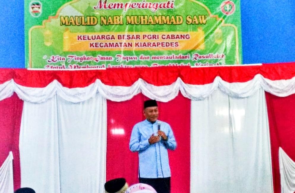 PGRI Kecamatan Kiarapedes Gelar Peringatan Maulid Nabi Muhammad Dalam Rangka HUT PGRI