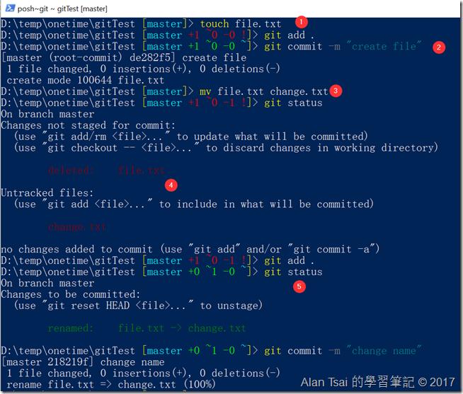 log看不到建立出file.txt的記錄
