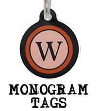 Monogram Two Sided Dog ID Tag