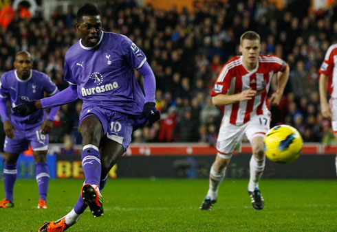 Emmanuel Adebayor, Stoke City - Tottenham HotSpur