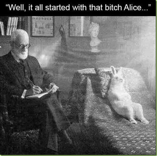alice in wonderland and Freud jettieg