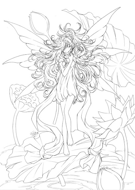 Printable Coloring Pages For Adults Fairies Coloring Pages