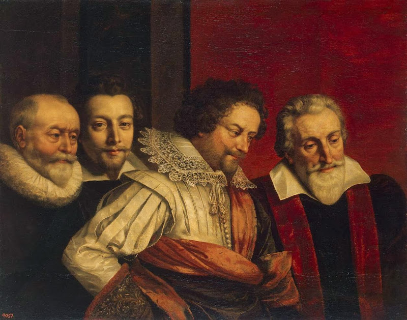 Frans Pourbus the Younger - Portrait of Four Members of the Paris Council