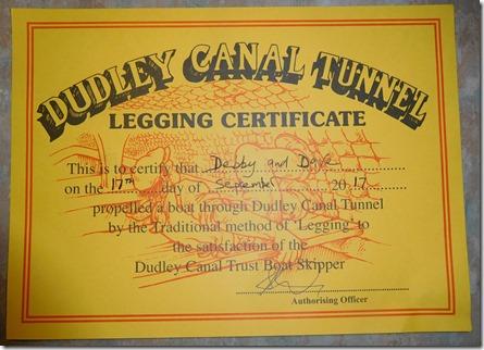 24 our legging certificate