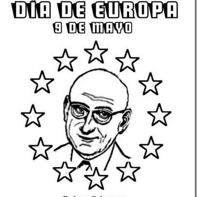 Dibujos día de Europa para colorear