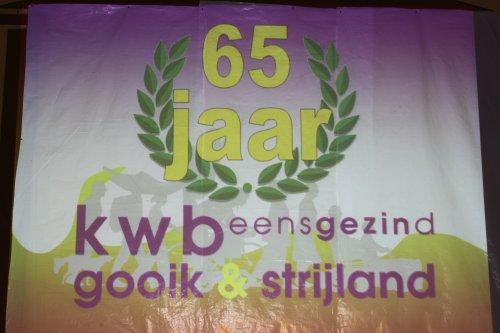 OP 27 februari 2011 vierden we met kwb gooik & strijland ons 65 jarig bestaan.