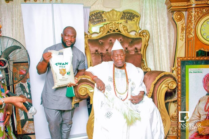 Titan Farms honoured by Olubadan, as he becomes Patron