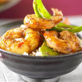 Shrimp and Snow Pea Stir-Fry.