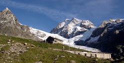 Refuge Elisabetta Soldini & glacier de la Lex Blanche.