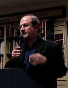 Salman Rushdie Presenting His Book Shalimar The Clown, Salman Rushdie