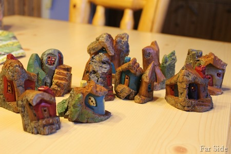 Woodcarvings painted