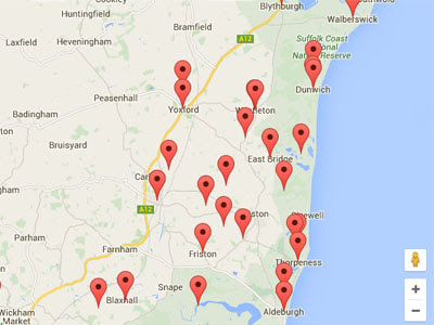 Suffolk Map image
