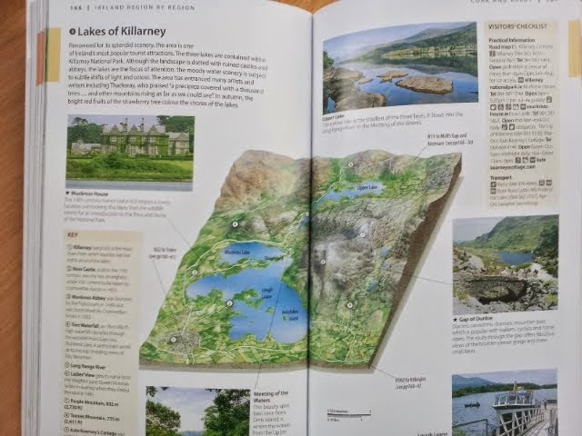 map of the Lakes of Killarney, DK Eyewitness Travel Ireland