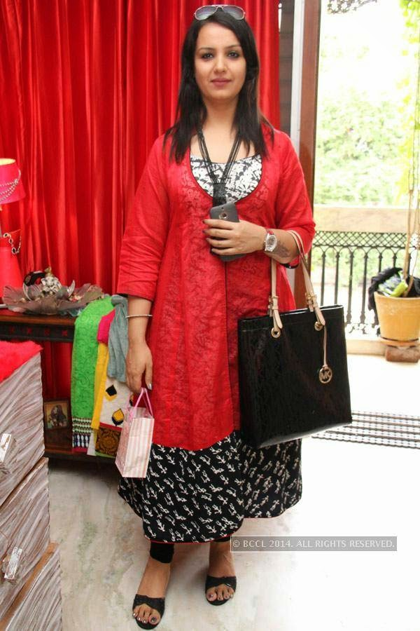 Sheetal during a fashion exhibition in Hyderabad.