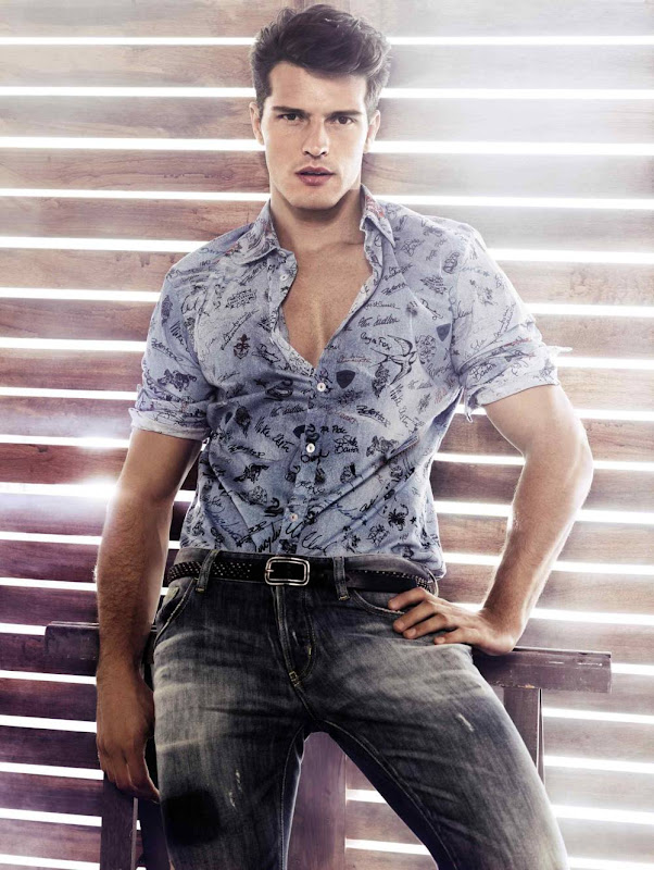 Diego Miguel @ Way/Wilhelmina by TBD for Just Cavalli lookbook, S/S 2012