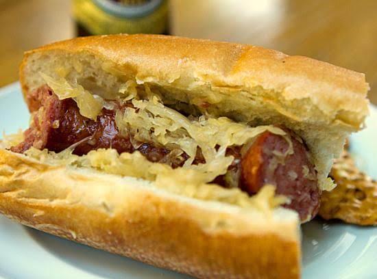 Beer & Brown Sugar Polish Sausage With Sauerkraut
