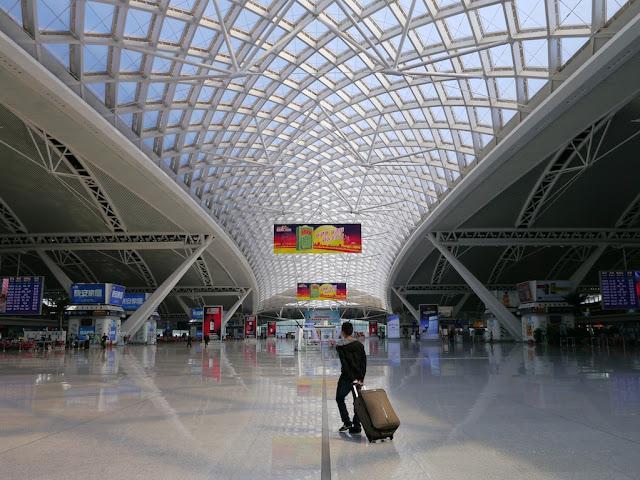 Guangzhou South Station waiting area