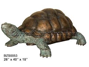 Bronze, Statue, Tortoise, Turtle