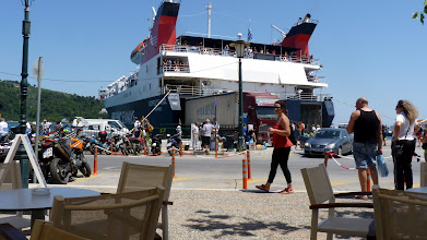 Photo: The Skiathos Express, a truly large catamaran ferry