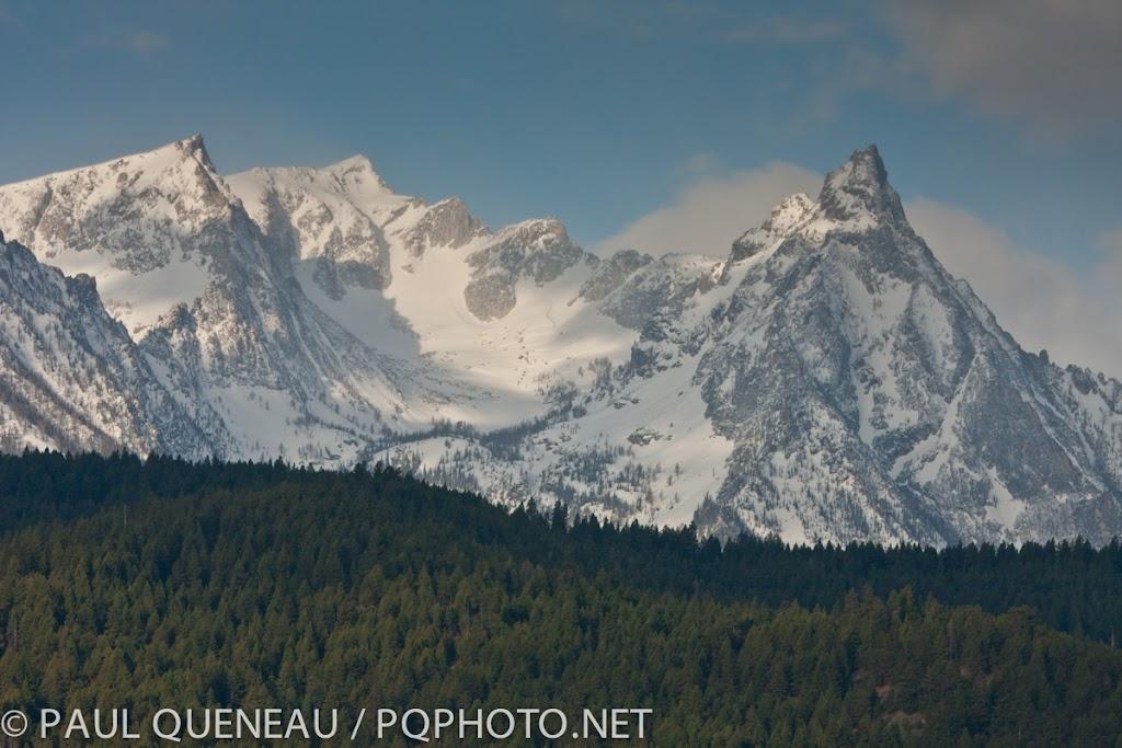 Snowy peaks in the Bitterroot.