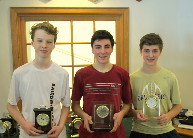 Mass Junior Championships, Jan 3-5, 2014  BU 15: Finalist - Tiber Worth (Brooklyn, NY); Champion - A.J. Solecki (Brooklyn, NY); 3rd Place - Matthew Dukarm (Buffalo, NY)