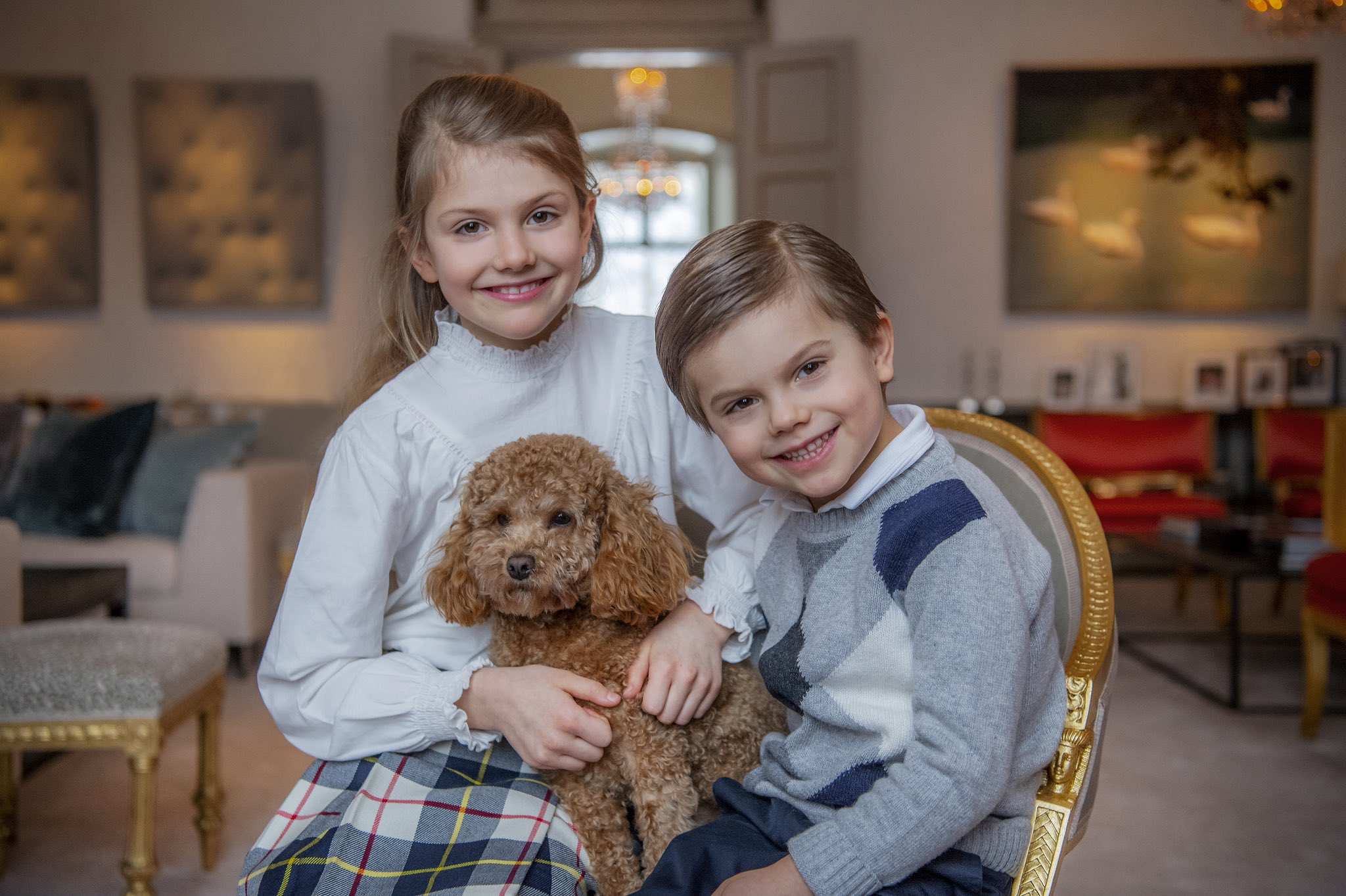 Princess Estelle and Prince Oscar of Sweden new pictures