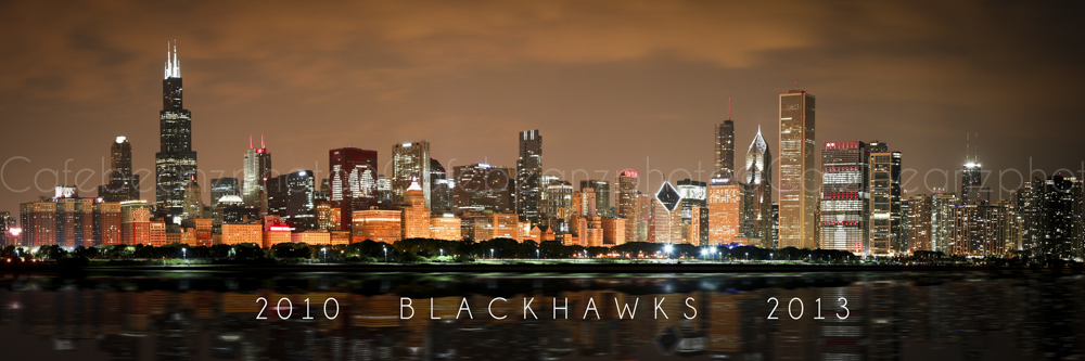 Wall Art Canvas Print Chicago Blackhawks 2013 2010 Skyline
