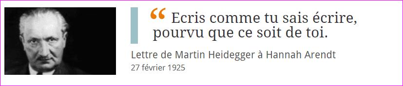Martin Heidegger et Hannah Arendt