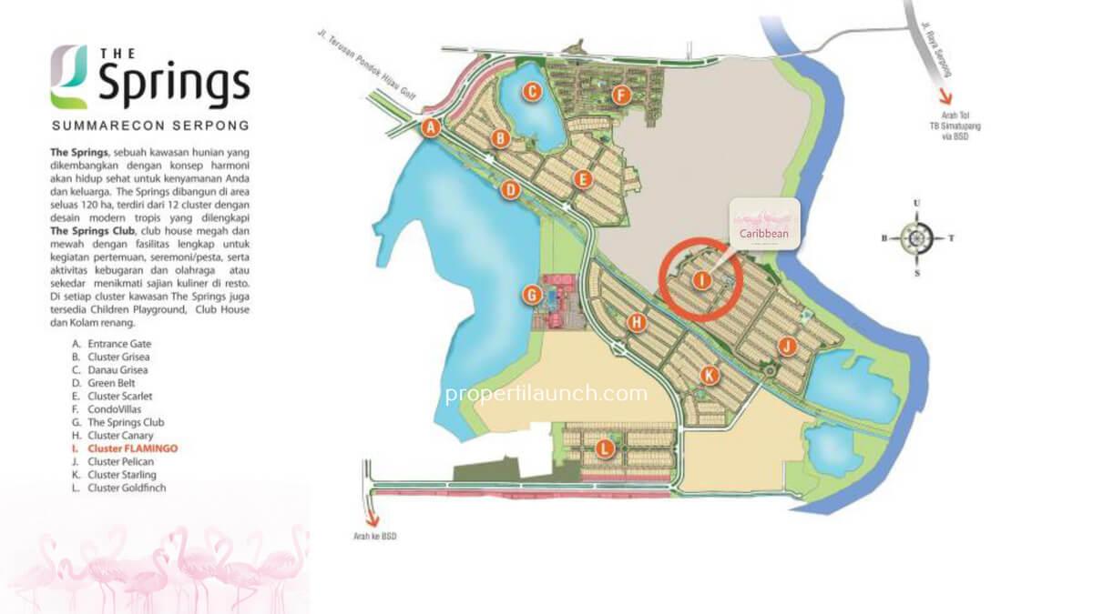Master Plan The Springs - Lokasi Rumah Caribbean