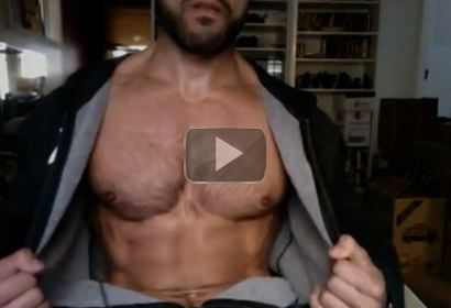 Rogan Richards Sexy Hairy Chest Posing
