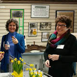 April 12, 2016, Greater West Bloomfield Chamber of Commerce Mix & Mingle held at the Orchard Lake Museum, Gina Gregory & Carol Fink.