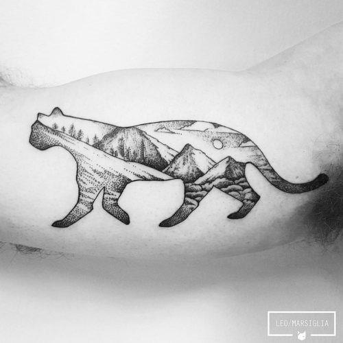 esta_brilhante_gato_selvagem_cenrio_da_tatuagem