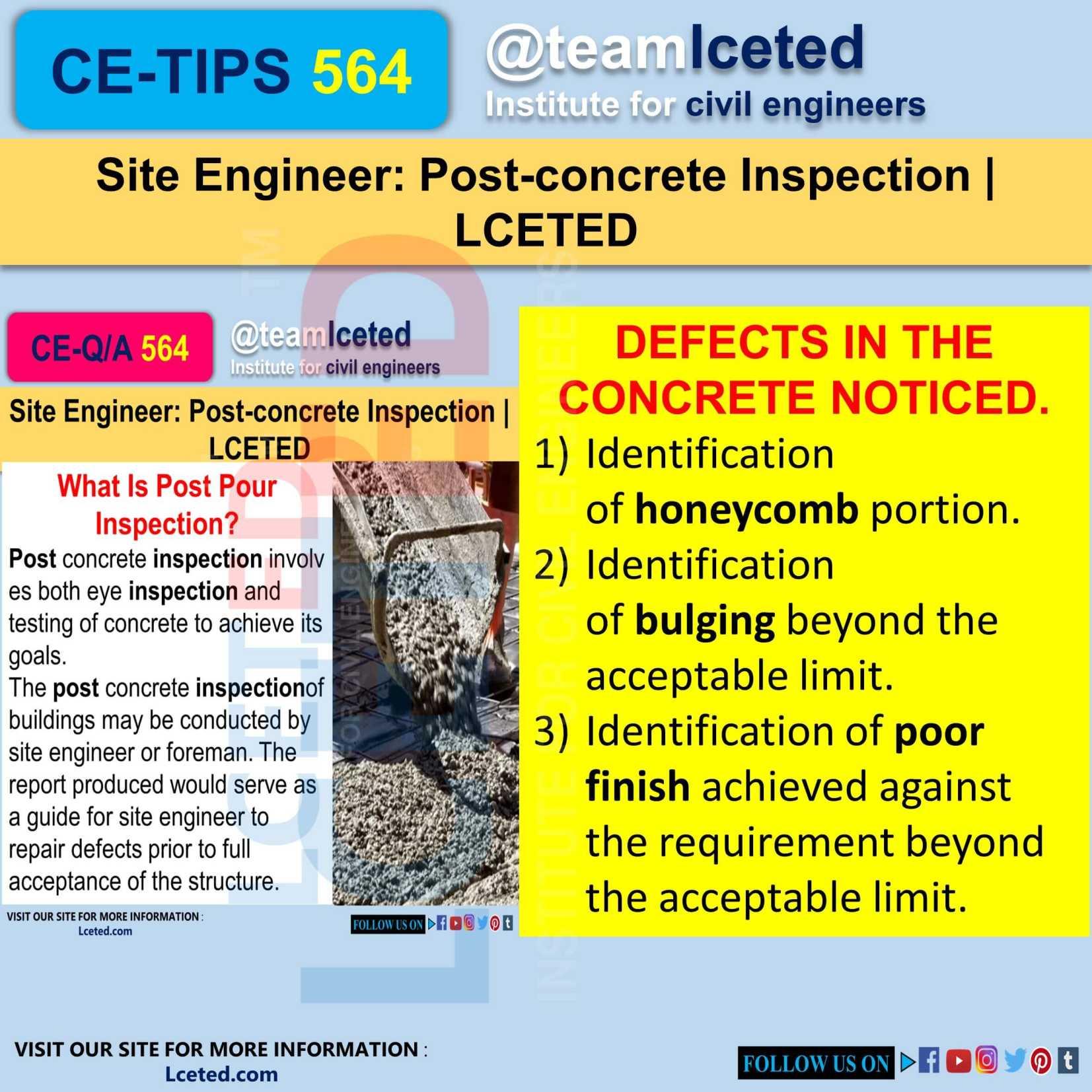 Post-concrete Inspection