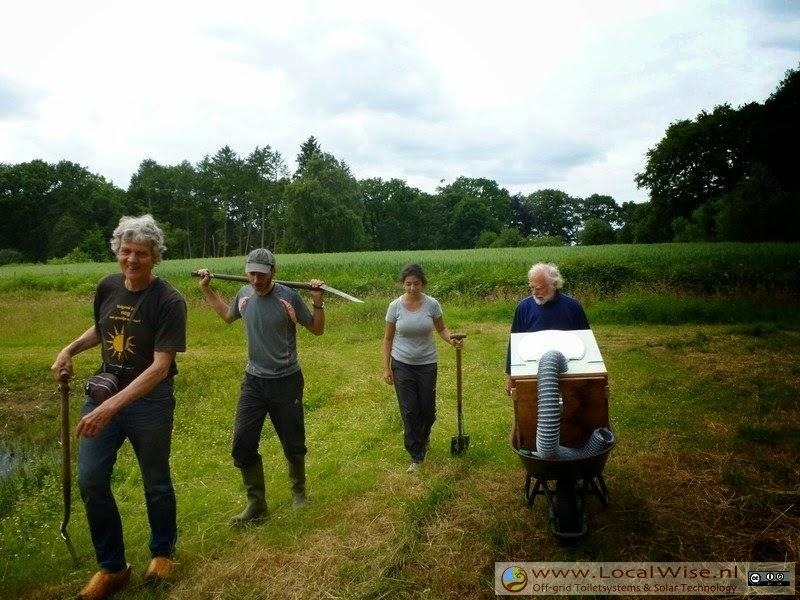 Ecotoiletten workshop op Aardewerk de Stegge, Winterswijk 2014-2