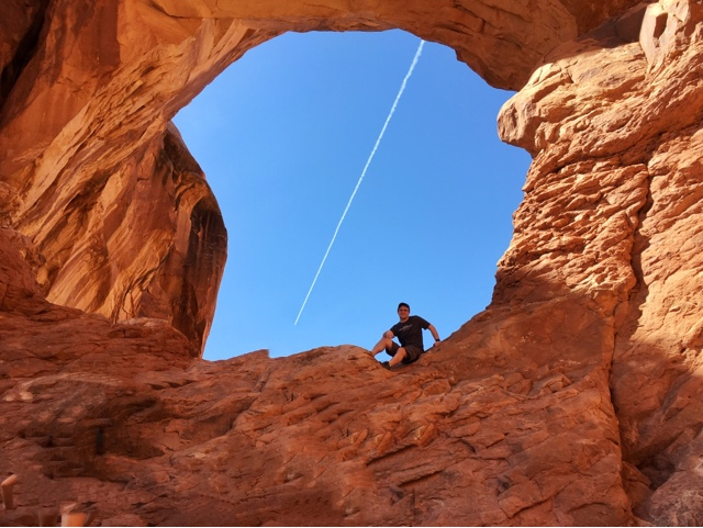 Ben in double arch