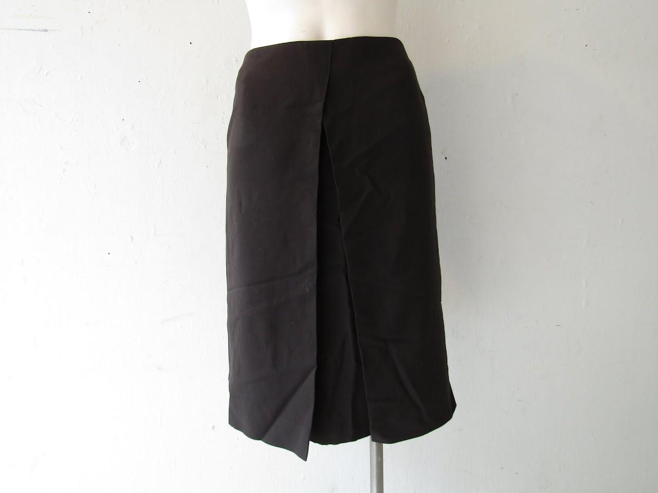 Hermes Black Wool Skirt