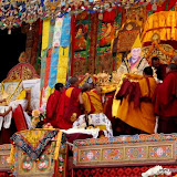 Massive religious gathering and enthronement of Dalai Lama's portrait in Lithang, Tibet. - l51.JPG