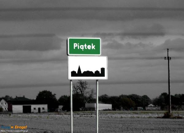 piątek - tablica miejscowości